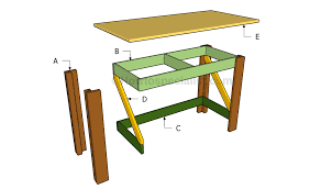 simple desk plans howtospecialist how to build step by step