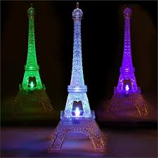eiffel tower table centerpieces 10 led 5 color changing acrylic eiffel tower light table
