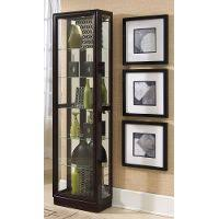 Curio Cabinets Under 200 00 Black Curved Corner Curio Cabinet Rc Willey Furniture Store