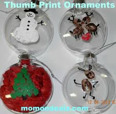 crafts for thumb print ornaments