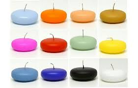 small floating candles 32 colors unscented njcandle