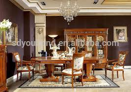 0029 beech solid wood classic high end italy dining table sets