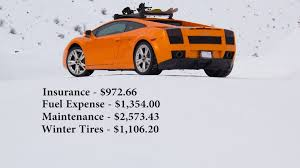 how much does the lamborghini gallardo cost running costs to daily drive a lamborghini
