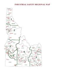 Idaho State Map by Industrial Safety Idaho Division Of Building Safety