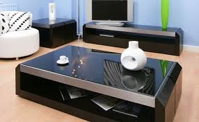 Coffee Tables Black Glass Deluxe Black Glass Topped Coffee Tables Set Design Furniture