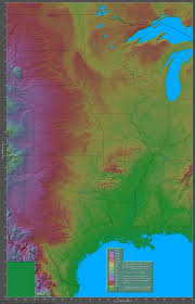 Altitude Map Of Usa by Shaded Relief Maps Of The United States