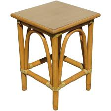 Rattan Side Table Restored Small Rattan Side Table With Arched Sides For Sale At 1stdibs