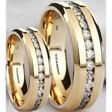 titanium wedding ring sets matching his s titanium simulated diamonds ring set