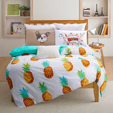 dropshipping ananas ensemble de literie doux imprimé fruits drap