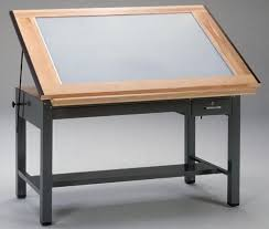 Drafting Table Plans Mayline Steel Light Table 7736blt