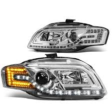 audi a4 headlights 05 08 audi a4 06 08 s4 halogen model led drl signal