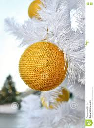 yellow on a white fluffy tree stock photo image