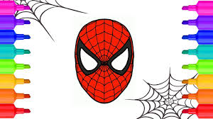 spider man mask coloring book spider man homecoming learning
