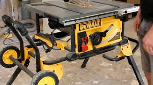 dewalt table saw review dewalt dwe7491rs jobsite table saw youtube