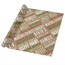 rustic christmas wrapping paper burlap typography rustic christmas wrapping paper zazzle