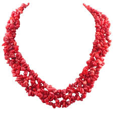 coral necklace red images Fashionable red coral chip necklace 17 5 inch jewelry jpg