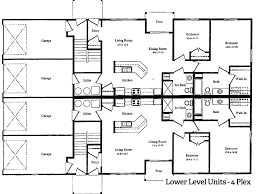 three plex floor plans stunning 4 plex apartment plans images house design ideas