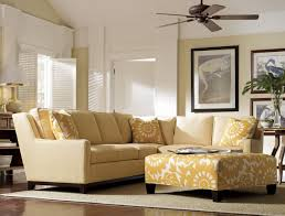 furniture yellow ottoman coffee table be equipped with l shaped