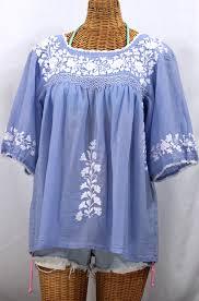 periwinkle blouse la marina peasant blouse periwinkle white