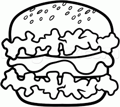 burger clipart sketch pencil and in color burger clipart sketch