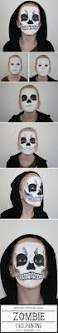 Skeleton Face Painting For Halloween by Top 25 Best Skeleton Face Paint Ideas On Pinterest Pretty