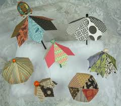 How To Make Paper Umbrellas - artfully musing new collage sheet paper umbrella