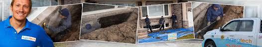Wet Basement Waterproofing - solutions for exterior wet basement aquatech waterproofing