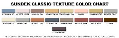 Stain Color Chart Concrete Coating Color Chart Colors Sundek Of Austin Concrete Coatings Restoration And