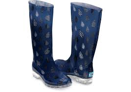 womens boots sale size 6 toms blue raindrop print s cabrilla boots in blue lyst