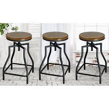 ehemco adjustable height bar stool set of 3 walmart com