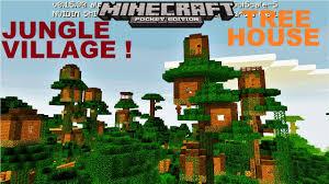 mcpe 1 2 omg amazing jungle treehouse village city map