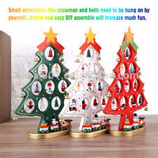 diy wooden cartoon christmas tree decorations ornaments home