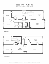 san francisco floor plans listing 464659 2383 37th avenue san francisco ca 94116