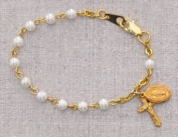 baby rosary bracelet baby rosary bracelet with pearls