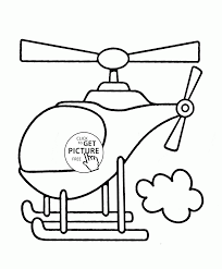 helicopter flying coloring page for toddlers transportation