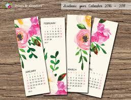 printable calendar 2016 etsy free printable bookmark calendar 2017 calendar 2018 printable