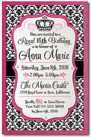 royal princess sweet 16 invitations di 566 harrison greetings