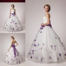 2015 white purple ball gown wedding dresses vestidos de novia