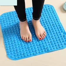 Square Bathroom Rugs Pvc Non Slip Mat Bath Mats Bathroom Pad Toilet Floor Shower Mats