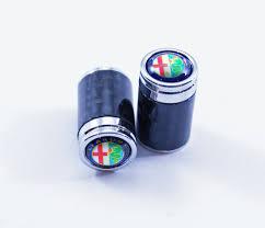 alfa romeo logo alfa romeo carbon fiber tire valve caps alfa romeo full color