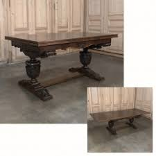 antique draw leaf table antique country french double pedestal draw leaf dining table
