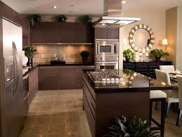 contemporary kitchen with sandstone tile by construction owl