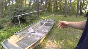 How To Build Hunting Blind How To Build The Diy Rock Solid Duck Boat Blind Kit Set Up On A