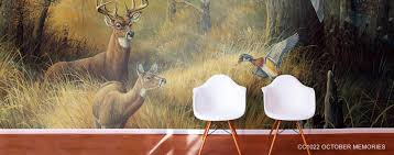 Murals Custom Hand Painted Wall Murals By Art Effects Wildlife Murals Wild Animal Scene Wallpaper