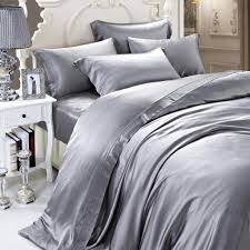19 momme silver grey gray luxuer silk duvet cover