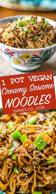 idee de plat simple a cuisiner one pot vegan sesame noodles these noodles are