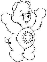bear coloring pages the sun flower pages