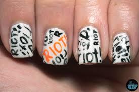 Music Nail Art Design Hey Darling Polish Music Monday Paramore U0027s Riot