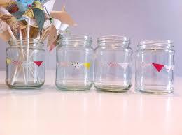 washi tape diy i do diy u2026 jam jars with bunting and hearts washi tape