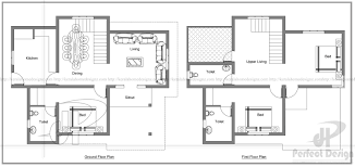 Square Floor Plans For Homes 1442 Sq Ft Double Floor Home U2013 Kerala Home Design